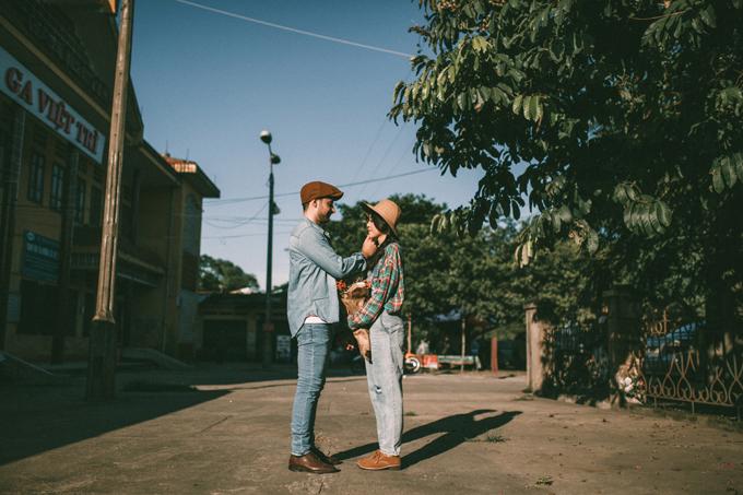 Ảnh cưới chụp tại nhà ga - 1