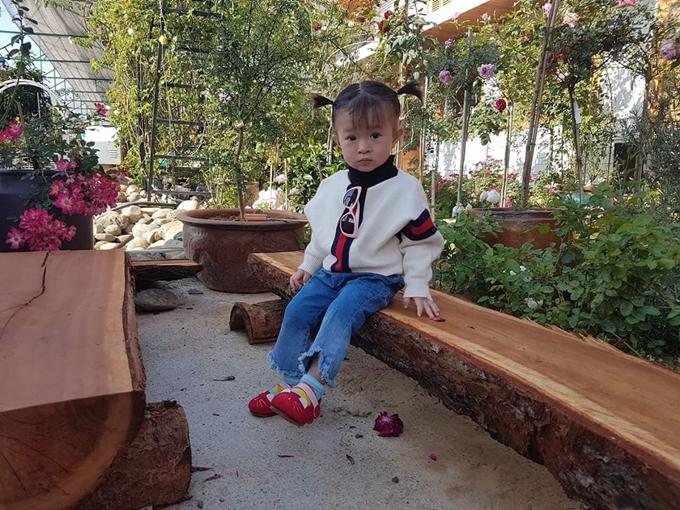 Những bàn trà nhỏ bằng gỗ thông được bố trí rải rác trong khu vườnlàm chỗ nghỉ chân cho gia đình anh Tạo hay khách tới thăm quan. Đây cũng là góc ưa thích của anh nông dân Đà Lạt chọn để làm việc khi cần sự yên tĩnh.