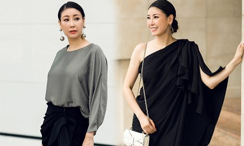 Hà Kiều Anh phối túi hiệu nghìn đô với váy Đỗ Mạnh Cường