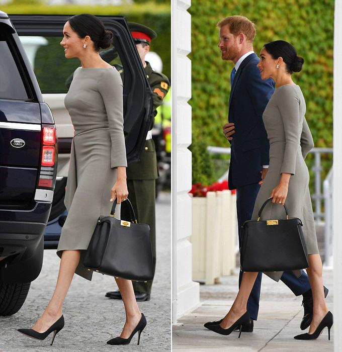 Meghan khoe dáng mảnh khi cùng chồng tới dinh thự tổng thống Ireland - 1