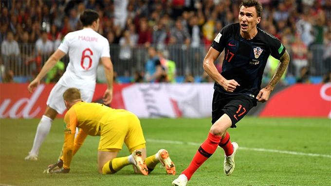 Mandzukic ghi bàn quyết định chiến thắng cho Croatia. Ảnh: FIFA.