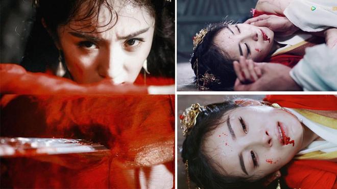 Dương Mịch gây nhiều cảm xúc cho khán giả khi đóng cảnh chống trả Dực Vương.