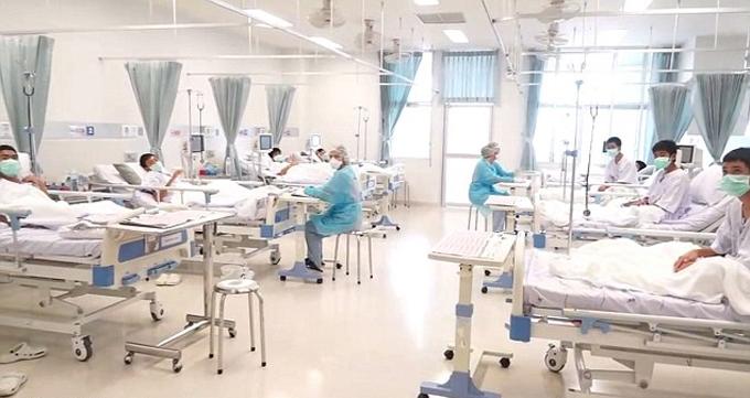 Phòng bệnh cách ly của các thiếu niên vừa được giải cứu. Ảnh: AFP.