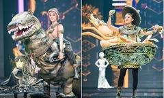 Thí sinh Hoa hậu Thái Lan diện váy hình tượng khủng long, lẩu tom yum