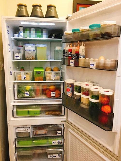 Khi chia sẻ ý tưởng sắp xếp tủ lạnh lên mạng xã hội, chị Lan Anh rất vui và bất ngờ khi nhận được nhiều lời khen.
