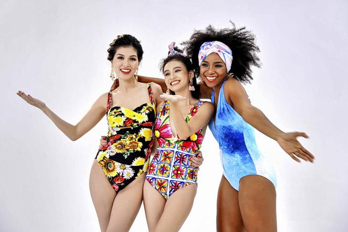 Oanh Yến cho biết, cô cùng hai đàn em muốn gửithông điệp cho phái nữviệc nên yêu vẻ đẹp của bản thân bởi mỗi người có một vẻ cuốn hút riêng.