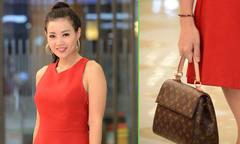 Thanh Hương xách túi hiệu 57 triệu đồng đi xem phim