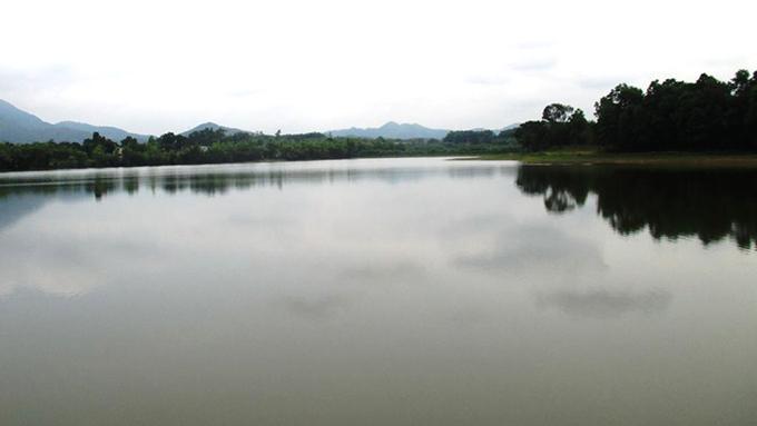 Hồ cá nơi ông Dương tử vong.