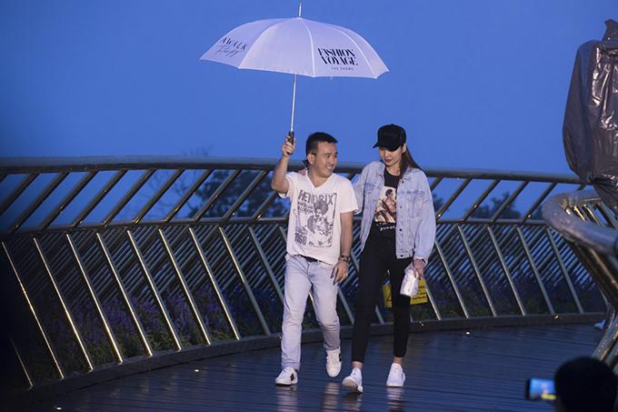 Thanh Hằng và nhà thiết kế Lê Thanh Hoà.