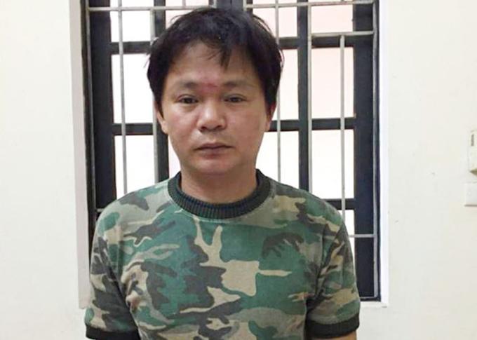 Bị cáo Hữu Anh thời điểm bị cảnh sát bắt. Ảnh: H.L