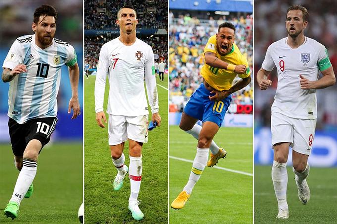 Neymar được người dùng Facebook ở Anh nhắc tên nhiều hơn cả Messi, C. Ronaldo và Harry Kane.