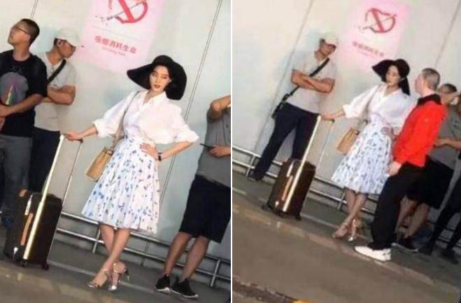 Một vài hình ảnh của Băng Băng trên phim trường, đạo diễn Phùng Tiểu Cương dặn dò cô trước khi bấm máy.
