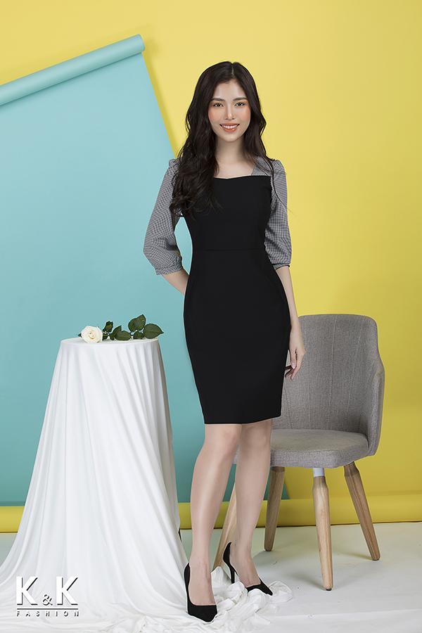 Đầm ôm công sở tay lửng KK75-35, giá 420.000 đồng.