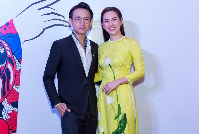 MC Quang Bảo lịch lãm bên diễn viên Phương Anh Đào.