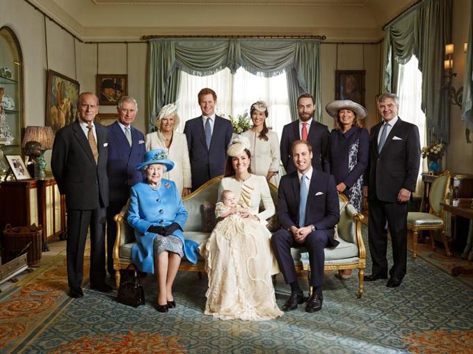 Ảnh hoàng gia Anhtrong lễ rửa tội của Hoàng tử George vào năm 2013 cũng được chụp tại dinh thự Clarence.