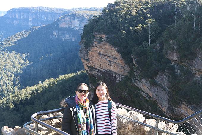 View chụp ảnh triệu đô của thác nước Wentworth, một phần của dãy Blue Mountains