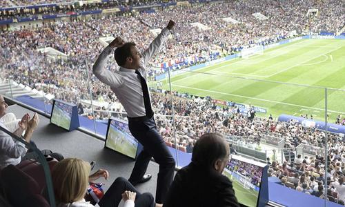 '50 sắc thái' của Tổng thống Pháp ở trận chung kết World Cup