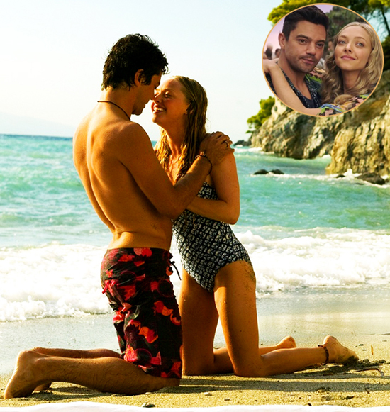 Amanda Seyfried và Dominic Cooper trong Mamma Mia.