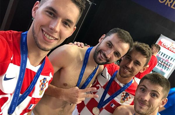 Dù thất bại, các cầu thủ Croatia không quá buồn. Lọt vào tới trận chung kết World Cup là thành tích lịch sử đối với họ.