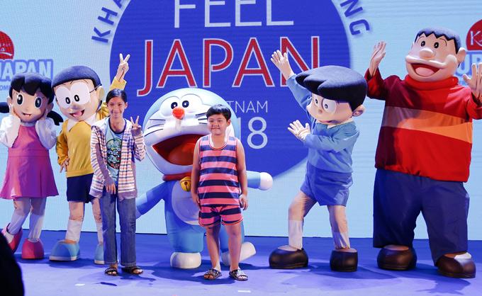 Lễ hội Nhật Bản năm nay thu hút gần 20.000 khán giả tham dự, trong đó có nhiều trẻ em. Chương trình có sự xuất hiện của các nhân vật truyện tranh được thiếu nhi Việt Nam yêu mến như: Doraemon, Chaien, Xuka, Xeko, Nobita...