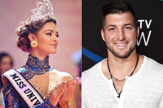 Hoa hậu Hoàn vũ Demi-Leigh Nel-Peters và bạn trai mới, Tim Tebow.