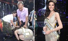 Cô gái nghèo Thái Lan quỳ lạy bố mẹ khi đăng quang Hoa hậu