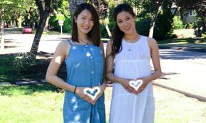 Vợ 'chú lùn TVB' đọ bụng bầu với diễn viên Chung Gia Hân
