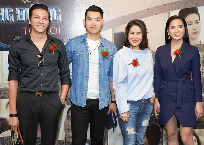 Diễn viên Hoàng Anh tới chúc mừng Trương Nam Thành, Thân Thúy Hà và Bella Mai ra mắt vai diễn mới trên màn ảnh nhỏ.
