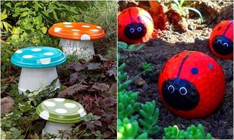 5 ý tưởng trang trí khu vườn mùa hè bằng vật liệu 0 đồng
