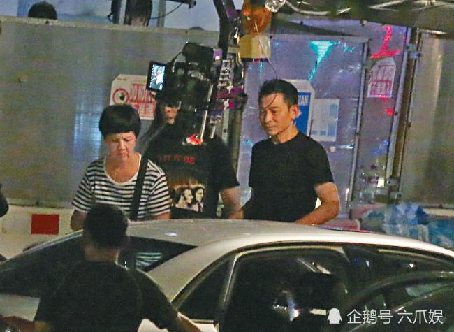 Lưu Đức Hoa hôm 17/7 trên phim trường Tảo Độc 2.