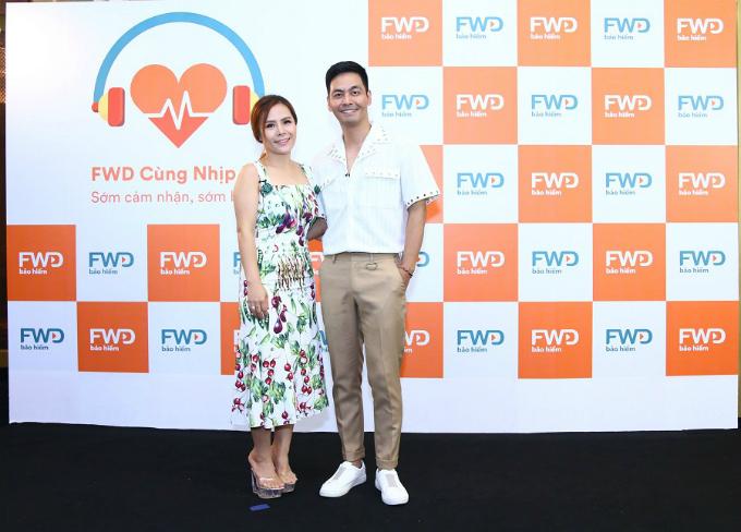 Phan Anh cùng bà xã tham gia dự kiện mừng sự ra đời của FWD Cùng nhịp đập.