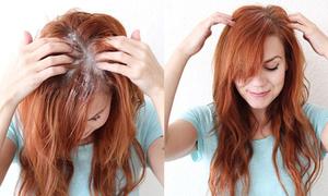 Mẹo 'cấp cứu' tóc bết dầu chỉ trong 10 giây