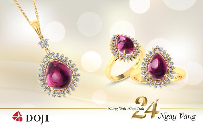 Trang sức đá Ruby tự nhiên tôn vinhphong cách trang nhã, chuộng gam màu hồngấm áp và cuốn hút.