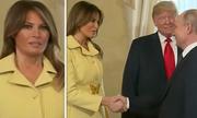 Biểu cảm của Melania Trump sau khi bắt tay Putin gây chú ý