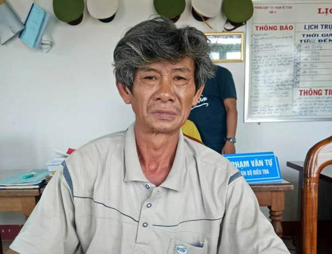 Nguyễn Trung Hưng tạicơ quan điều tra. Ảnh:C.A.