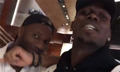 Pogba và Drogba 'diễn hài' khi gặp nhau
