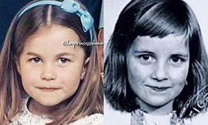 Công chúa Charlotte giống hệt Công nương Diana hồi nhỏ