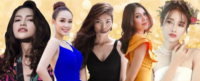 Top 5 ứng viên nổi bật gồm Trương Mỹ Nhân, Ngọc Châu, Bella Hoàng Vũ, Kim Huệ và Daisy Ngô.