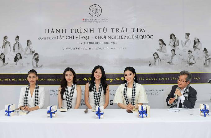 Các hoa hậu, á hậu còn tới trường Đại học Buôn Ma Thuột để trò chuyện, chia sẻcùng sinh viên.