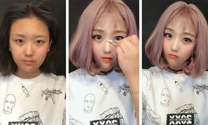 Những màn 'lột xác' ngoạn mục không cần dao kéo của hotgirl Trung Quốc