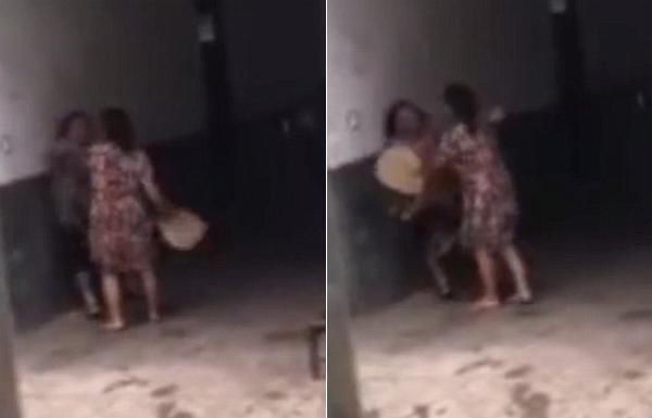 Bà cụ bị con dâu lấn át trong trận cãi vã. Ảnh: Btime.com.
