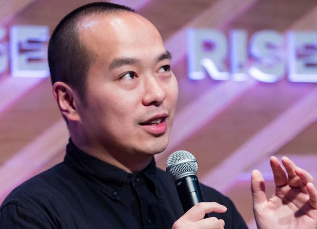 Ray Chan, 34 tuổi CEO của 9GAG tại sự kiện RISEConference Hong Kong tháng 7 năm 2018. Ảnh: CNBC.