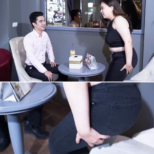 Quần skinny và áo bó sát có thể khiến chủ nhân lộ khiếm khuyết vòng ba.