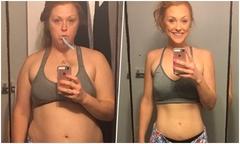 Bà mẹ hai con nặng 104 kg giảm 14 size quần jeans nhờ từ bỏ một loại nước uống