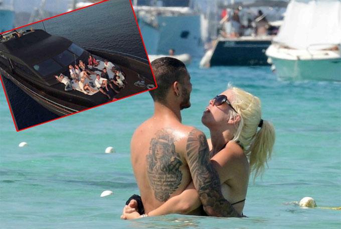 Bạn gái phản ứng khi Icardi lộ ảnh nằm trên du thuyền với nhóm chân dài