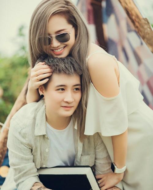 Ngọc Trang vàLin Jay sau khi chia tay vẫn là bạn tốt.