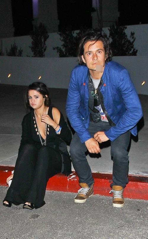 Selena đi chơi riêng với Orlando tháng 3/2014.