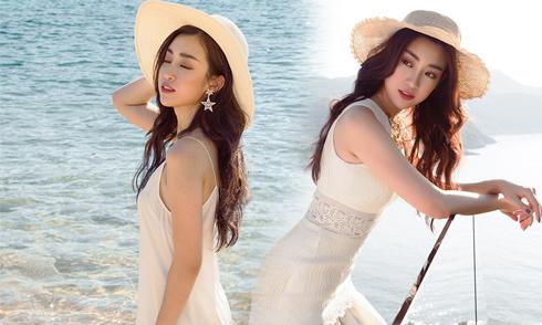 Đỗ Mỹ Linh khoe dáng cùng loạt váy cắt xẻ gợi cảm