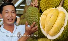 Mẹo chọn sầu riêng dễ nhớ của người Singapore