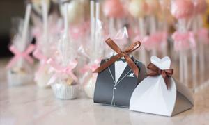 D'art Chocolate đem đến những hộp quà cưới ấn tượng.